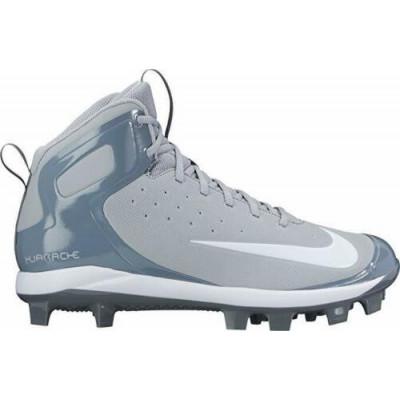 Nike Huarache Pro Mid Grey Baseball Cleats - 1