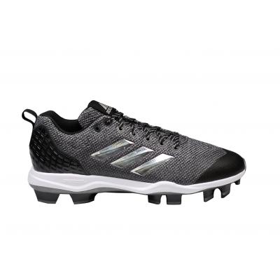 Adidas Power Alley 5 TPU Men's Baseball Cleats - Grey - 1