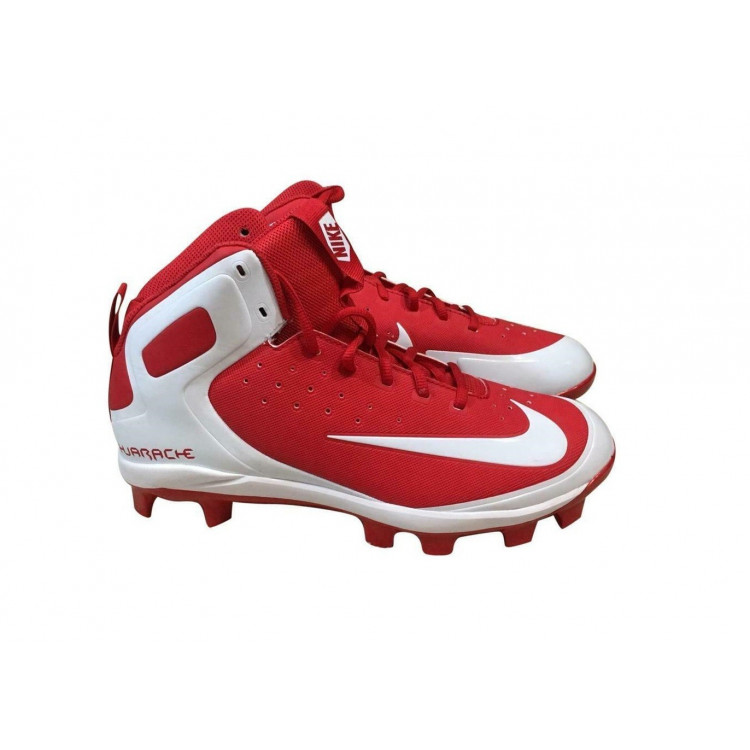 Nike Huarache Pro Mid Baseball Cleats - Red - 1