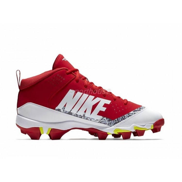 Nike Force Trout 4 Keystone Men's Baseball wht-red - 1