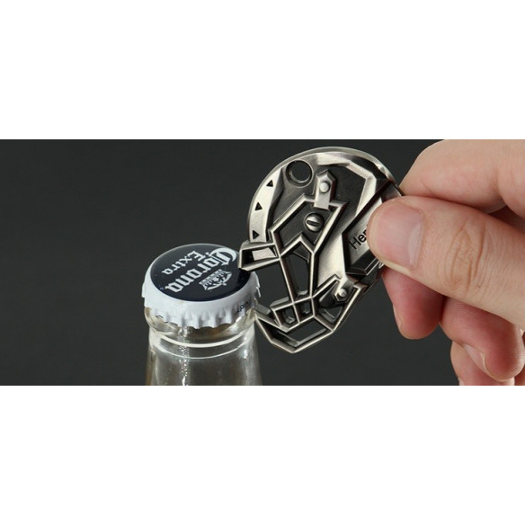 Beer opener - key ring - American Football Helmet - 3