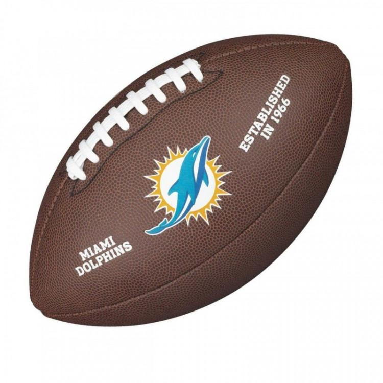 PIŁKA FUTBOLOWA Wilson NFL LICENSED BALL Miami Dolphins - 1