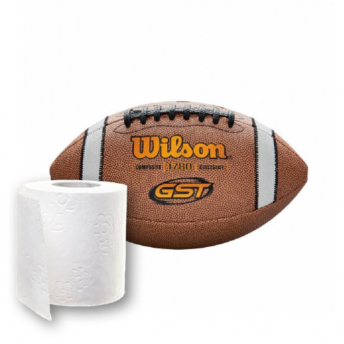 Toilet Paper and Football Wilson GST Composite - 1