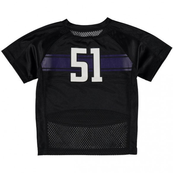 51 Northwestern Wildcats Under Armour Infant Replica Football Jersey - Black