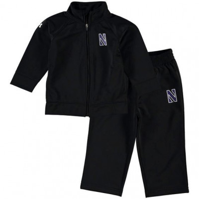 Under Armour Northwestern Wildcats Infant Black Performance Full-Zip Jacket and Pant Set
