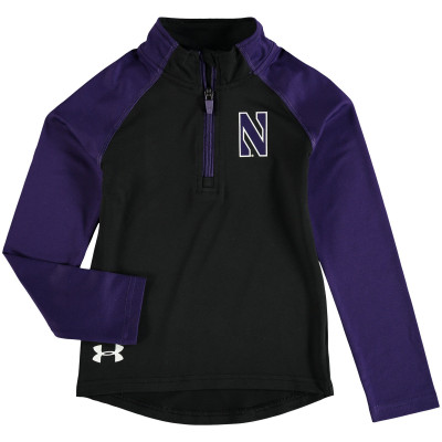 Under Armour Northwestern Wildcats Preschool Black/Purple Quarter-Zip Jacket
