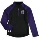 Under Armour Northwestern Wildcats Preschool Black/Purple Quarter-Zip Jacket