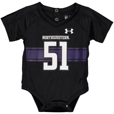 51 Northwestern Wildcats Under Armour Body Dla Noworodków Replica Performance Jersey