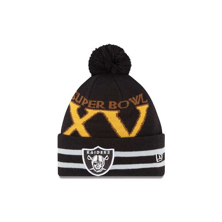 Czapka zimowa Oakland Raiders Super Bowl XV