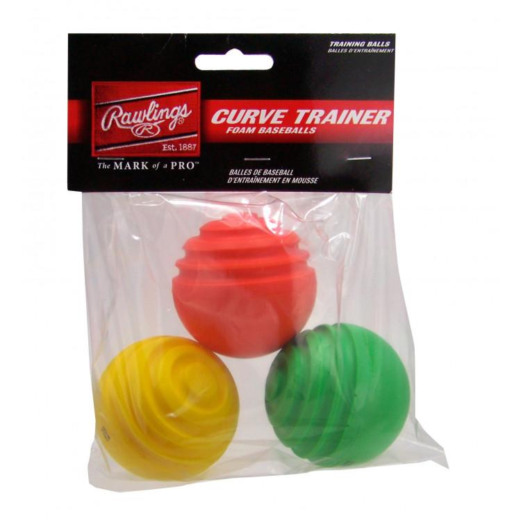 Rawlings Curve Trainer Balls (3pk)