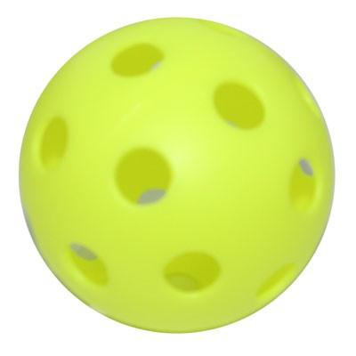 Benson Wiffle Plastic Baseball Yellow