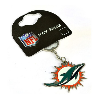 Miami Dolphins Crest Key Ring