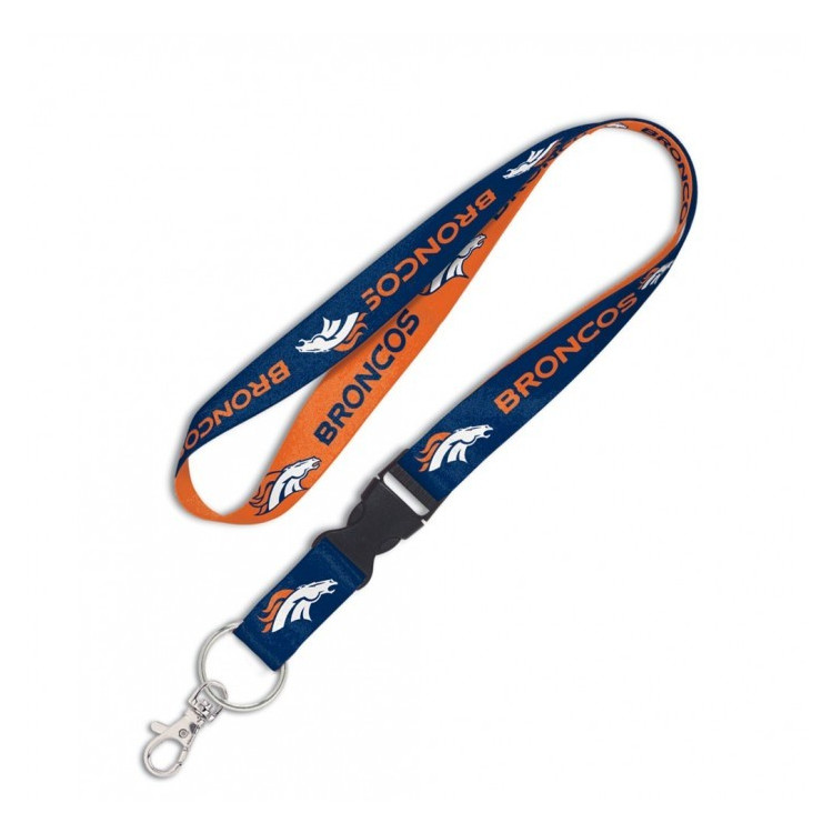 "Denver Broncos 1"" Lanyard w/ Detachable Buckle Smycz"