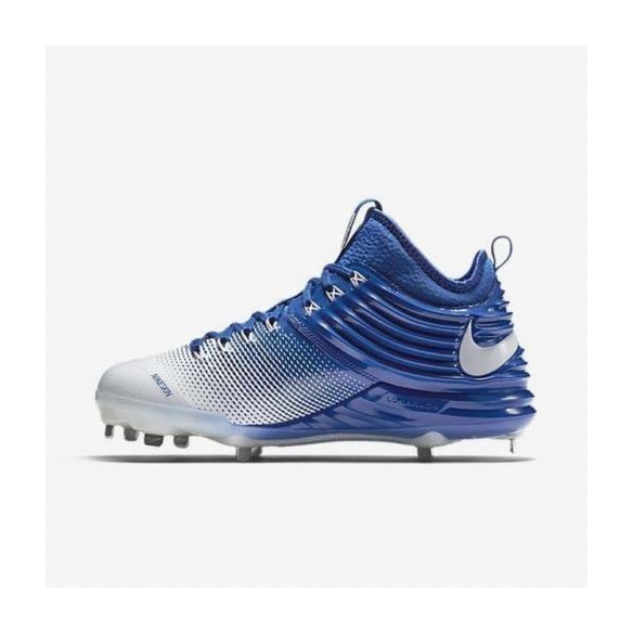Nike Lunar Trout 2 white/royal Buty Baseballowe