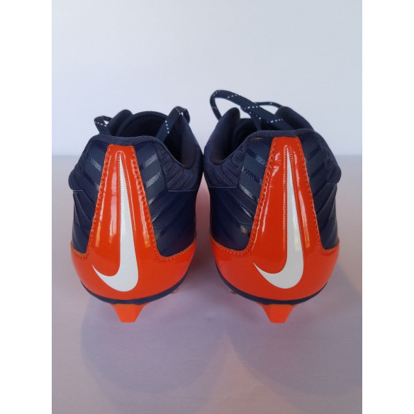 Nike Vapor Speed Low TD Navy/Orange Football Cleats