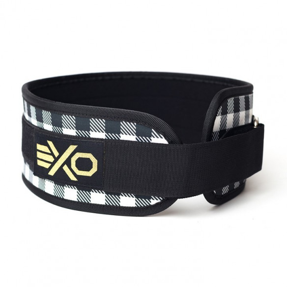 Pas Ciężarowy Exosleeve Black & White Checkered