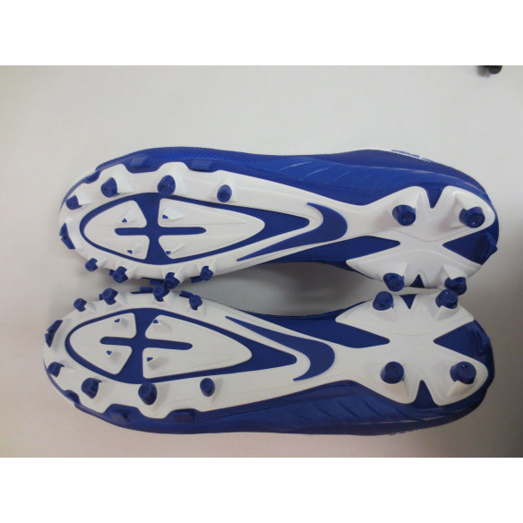 Nike Alpha Pro 2 TD PF Football Cleats White and Royal