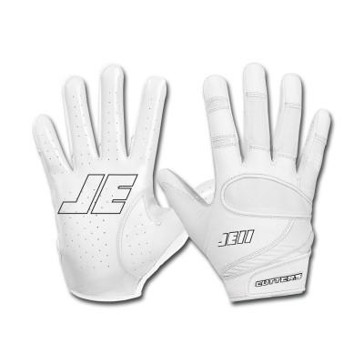 Cutters JE11 Fan Series Rękawiczki Futbolowe Białe