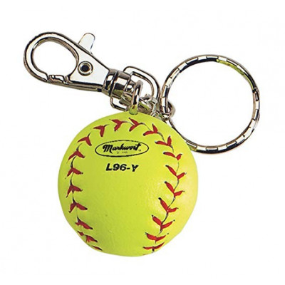 Markwort Keychain Baseball Ball Yellow