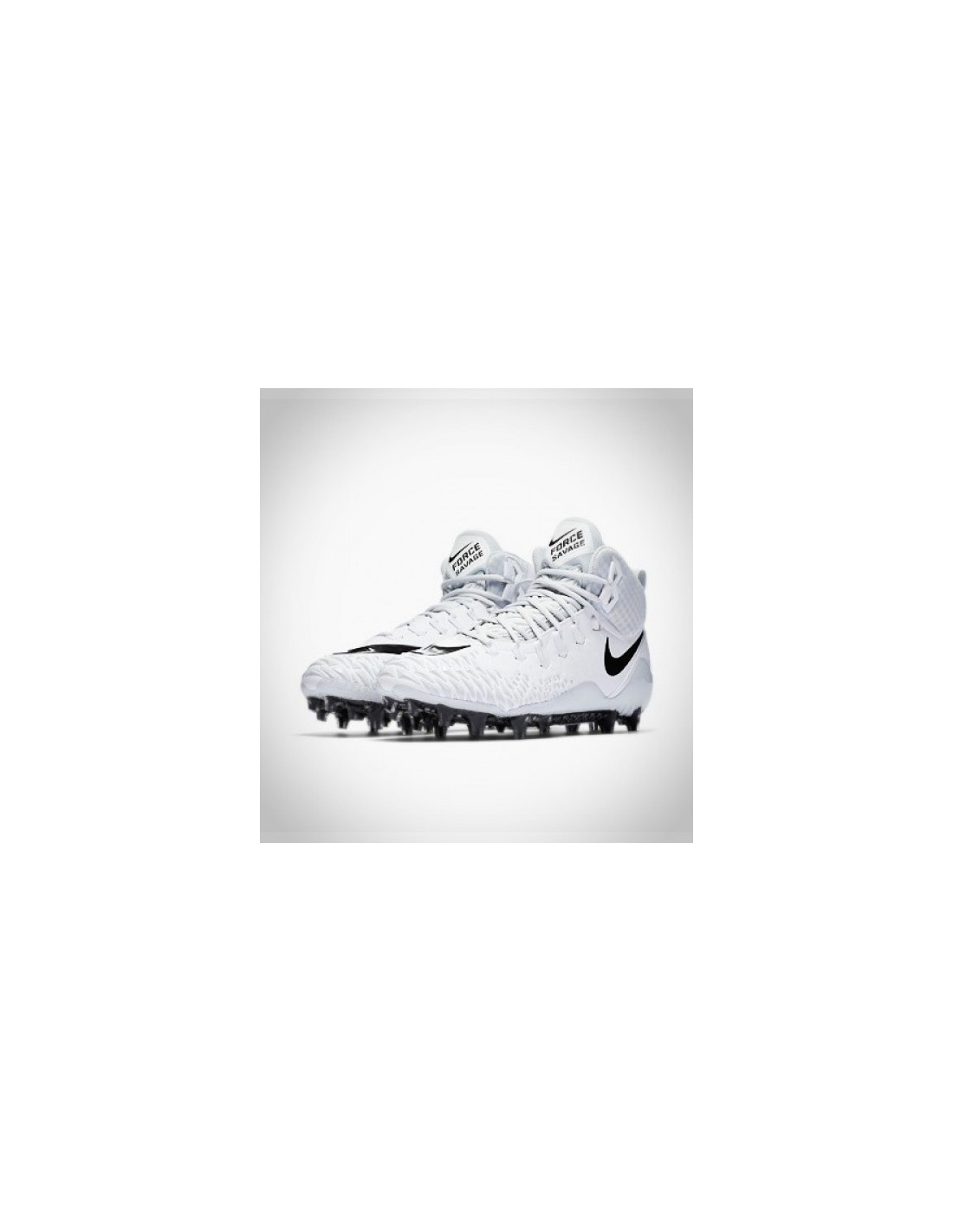 new concept 00009 823cb ... Nike Force Savage Pro white grey Football Cleats ...