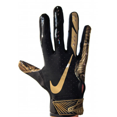 Nike Vapor Jet 5 - Black-gold Football Gloves  LIMITED EDITION