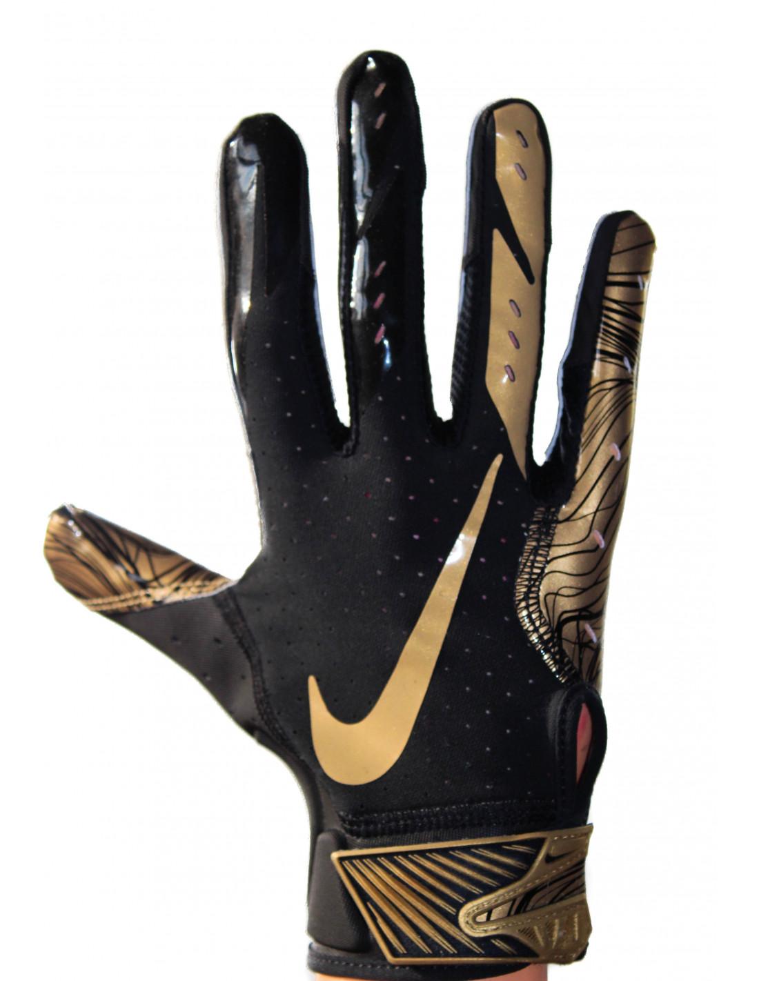 e5a118983e58 Nike Vapor Jet 5 - Black-gold Football Gloves LIMITED EDITION