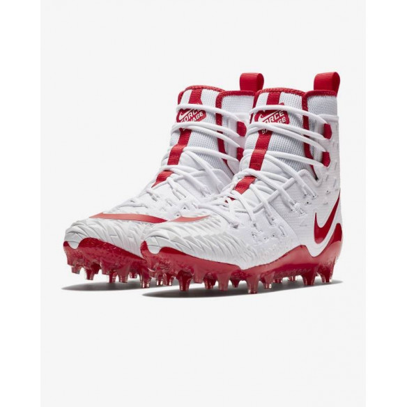 Nike Force Savage Elite Lineman Wht-Red Football Shoes