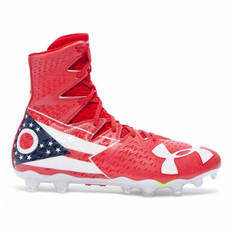 Under Armour Highlight MC LE Ohio Scarlet - Football Shoes