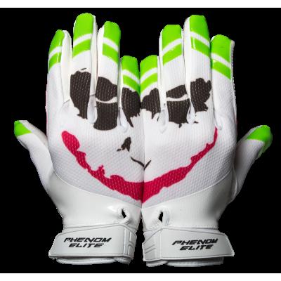 Phenom Elite White Joker Football Gloves