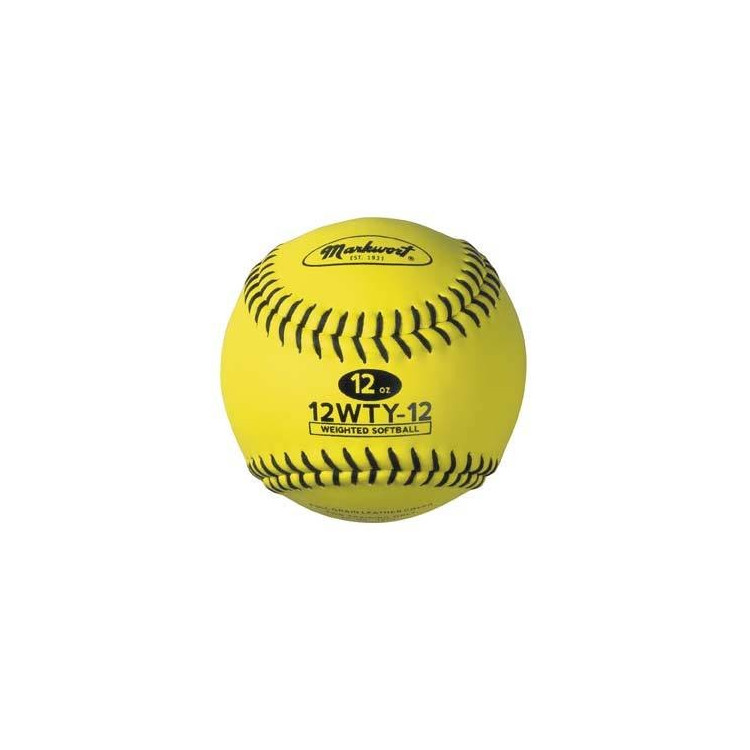 Markwort Weighted Yellow Leather Softball (12WTY)