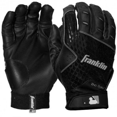 Franklin 2ND-SKINZ Black - Batting Gloves