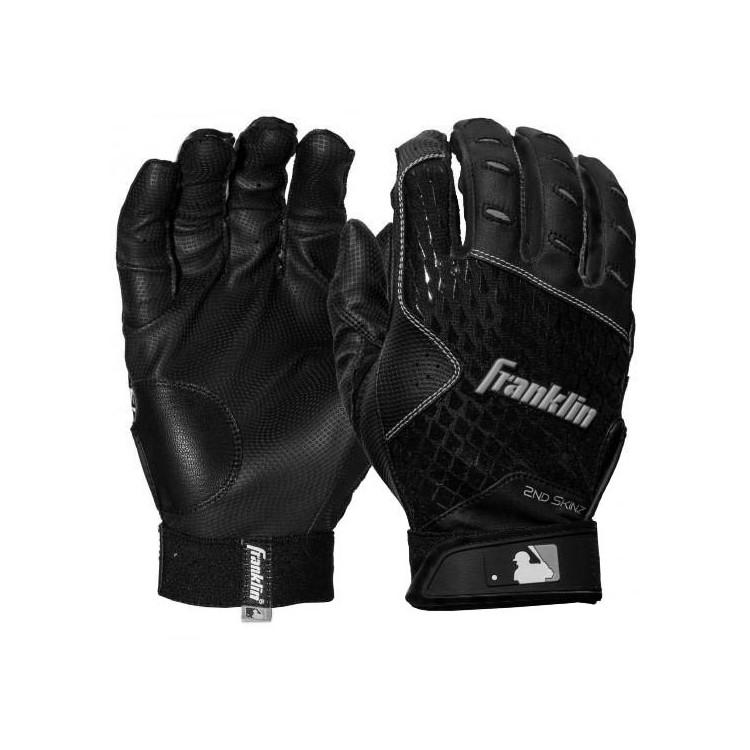 Franklin 2ND-SKINZ Black - Batting Gloves
