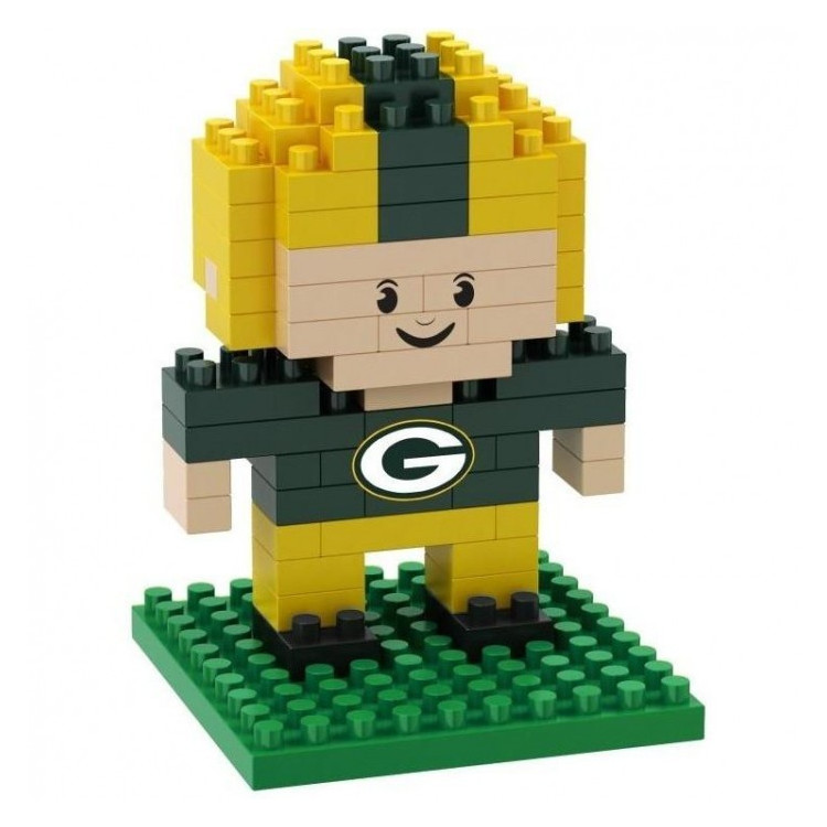 Green Bay Packers 3D BRXLZ - Player Set