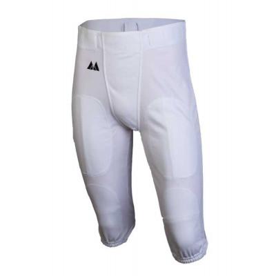 Spodnie futbolowe MM Poliester - Białe