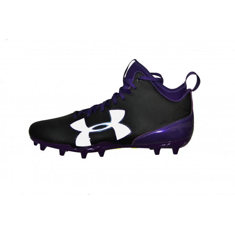 Under Armour Football Cleats - Black/Purple (US 12)