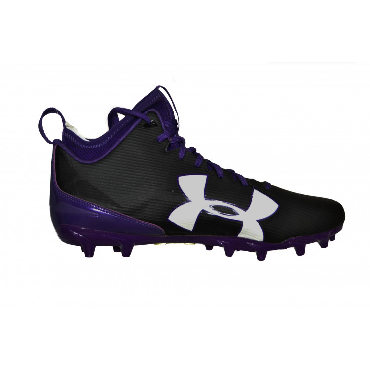 Under Armour Football Cleats - Black/Purple (US 12) - Buty Futbolowe