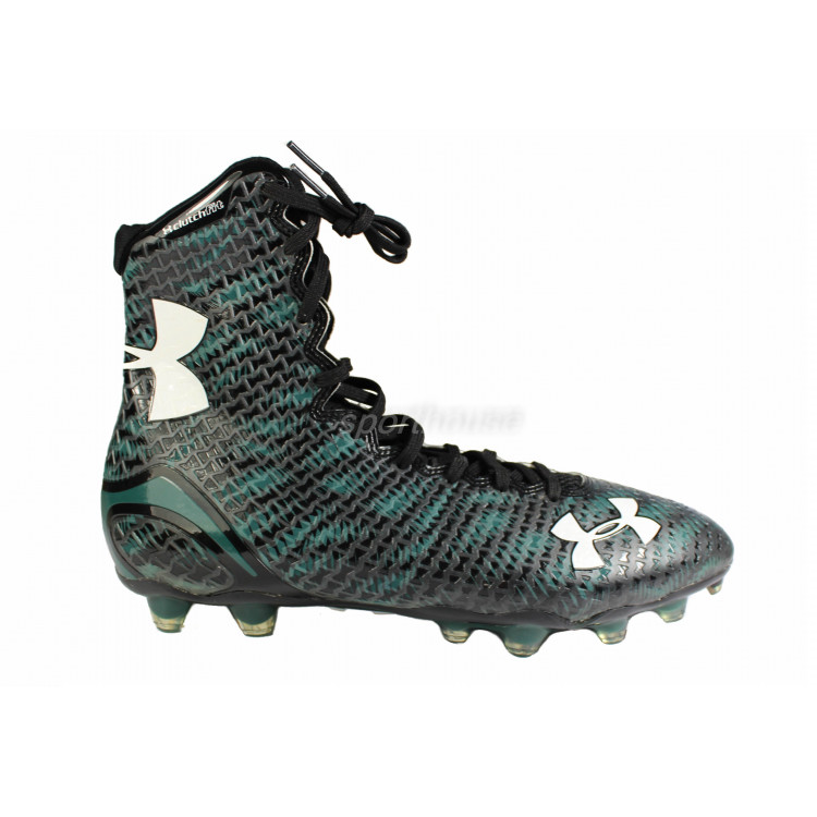 Under Armour Highlight blk-green - Buty Futbolowe