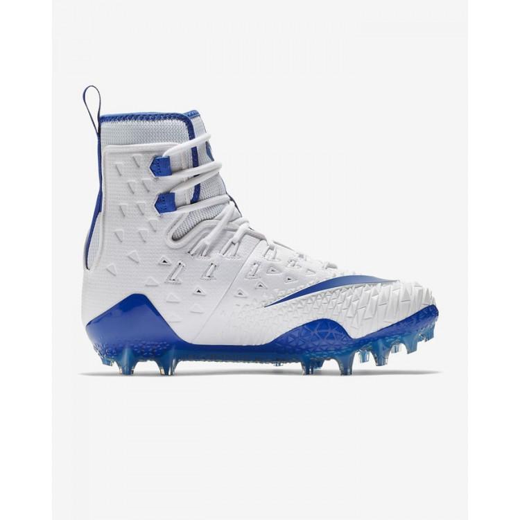 Nike Force Savage Elite Lineman Wht-Blue Football Shoes - 1
