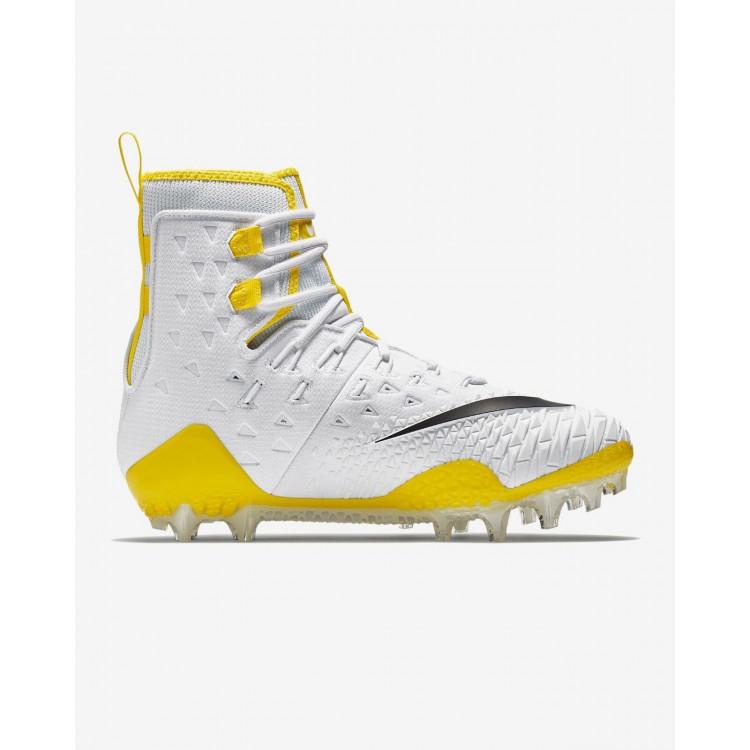 Nike Force Savage Elite Lineman Wht-Yel Football Shoes - 1